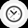 Schedule grijs icoon