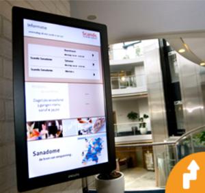 Digital screen in a mall