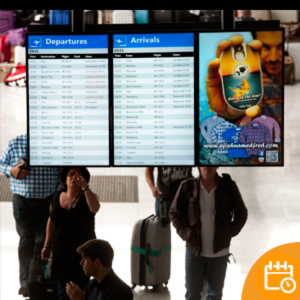 Airport digital signing and travel information