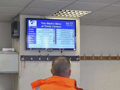 Digital signage turns tide communication across port