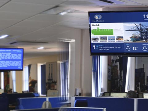 operations room digital solution screens