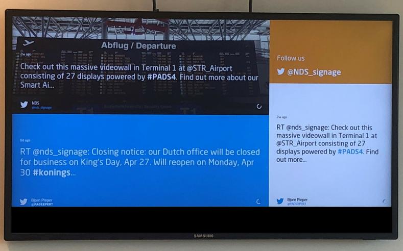social media display NDS PADS4