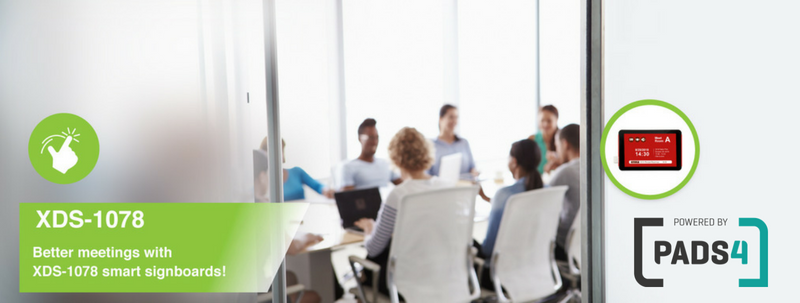 IAdea pads4: Smart Meetingroom Signage